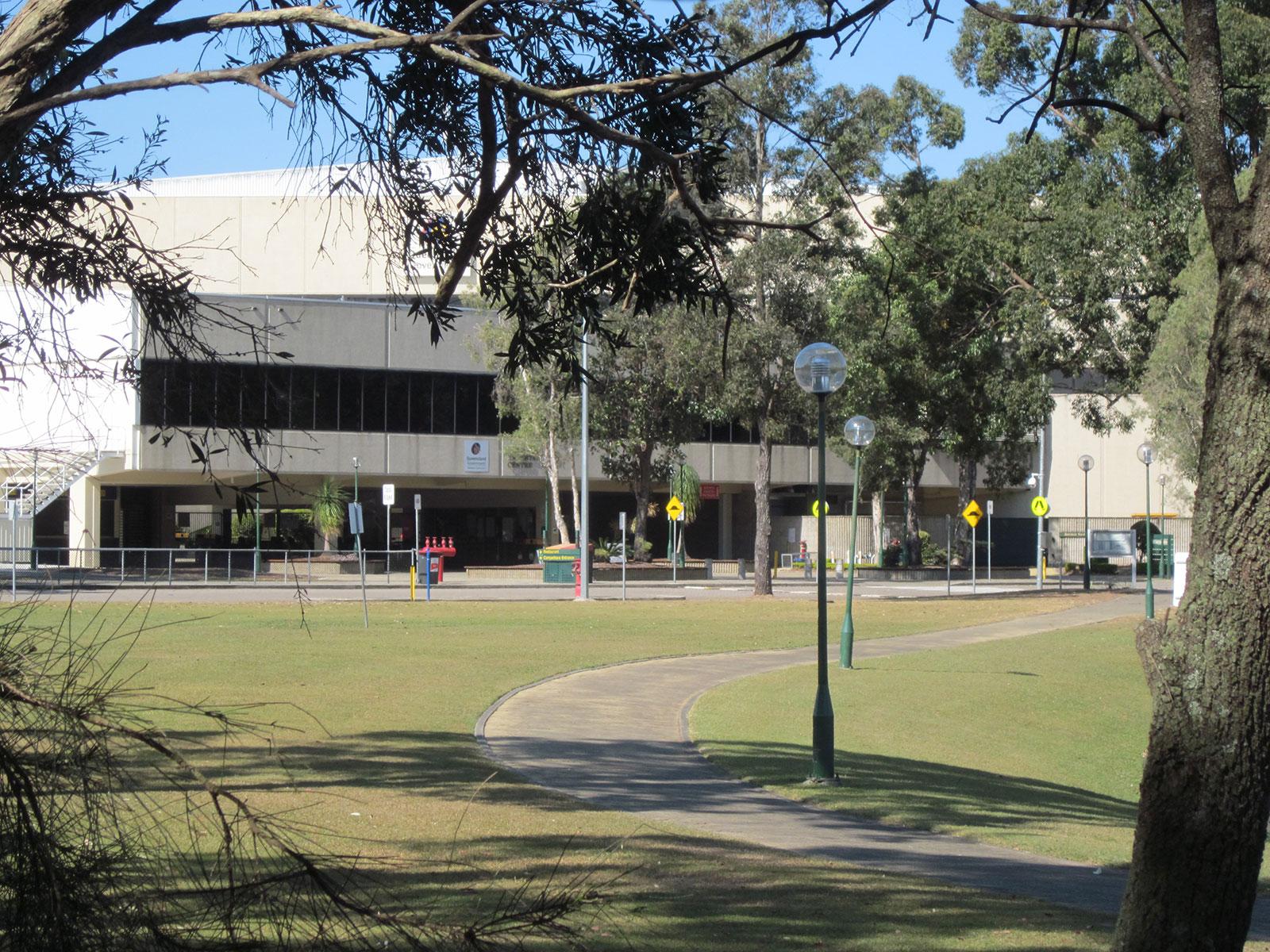 Brisbane Entertainment Centre nestled in natural surrounds