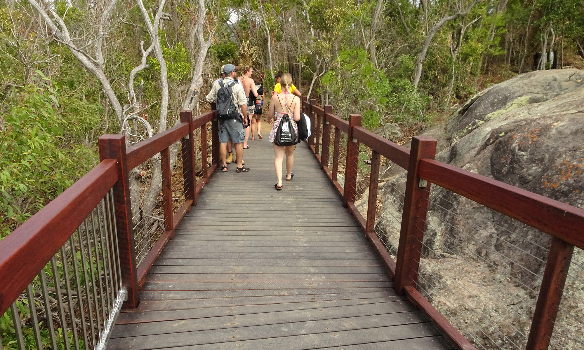 A boardwalk is beneficial to tourists and it protects the environment