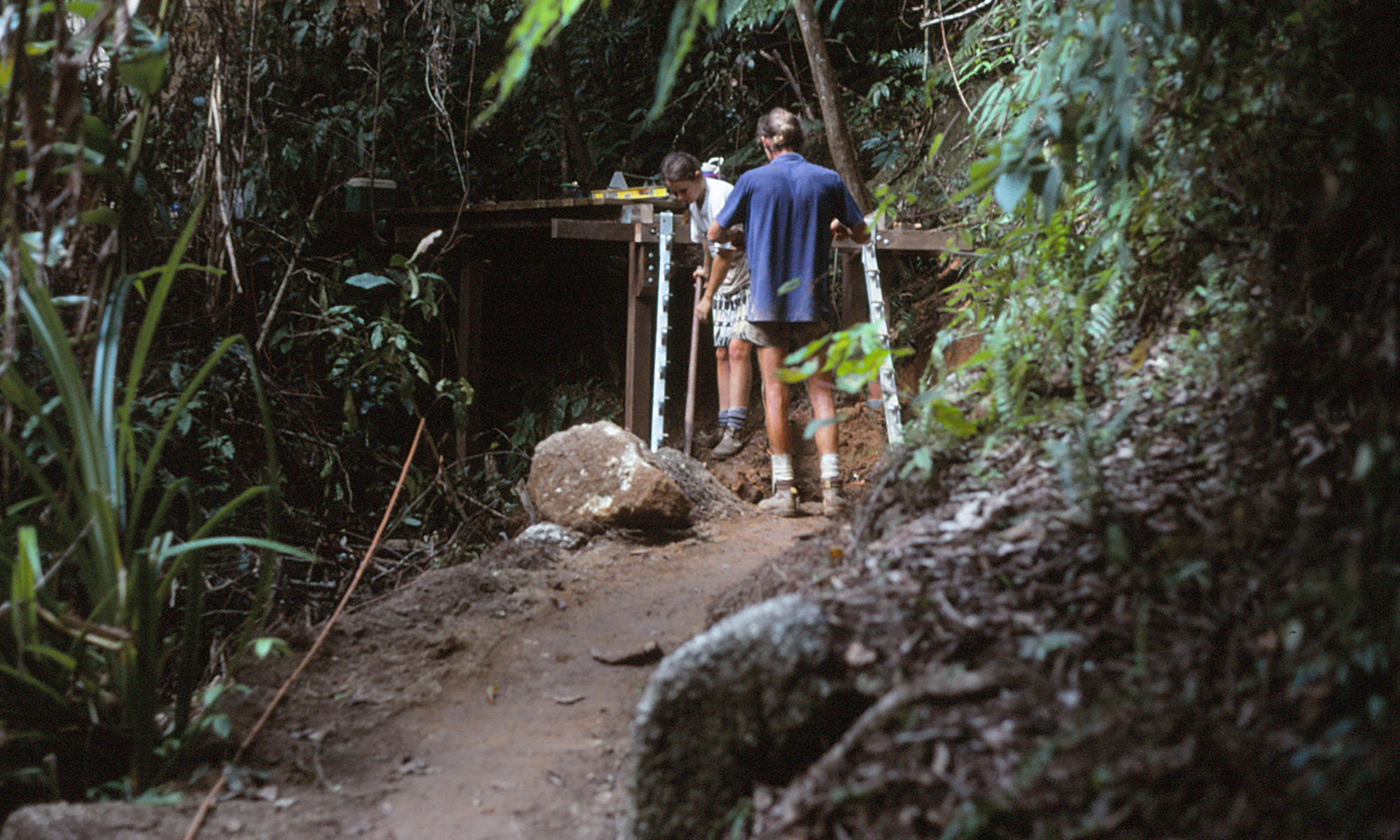 Reconstructing a national park walking track